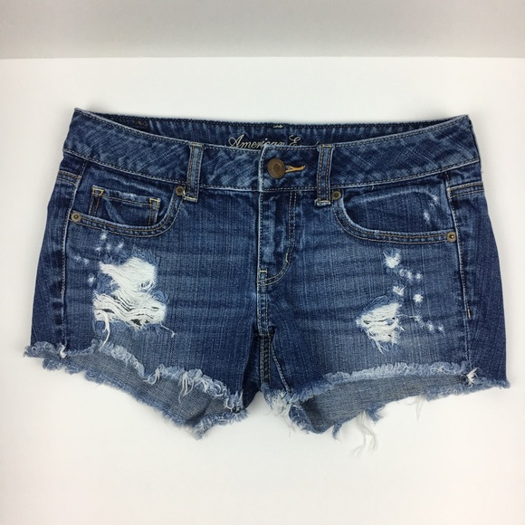 American Eagle Outfitters Pants - American Eagle Distressed Cutoff Denim Jean Shorts